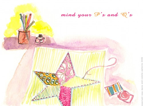 Pens+quilt