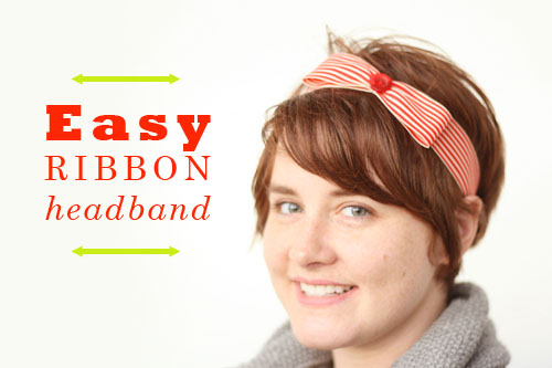Tutorial  Easy Ribbon Headband  95f3d3118a6