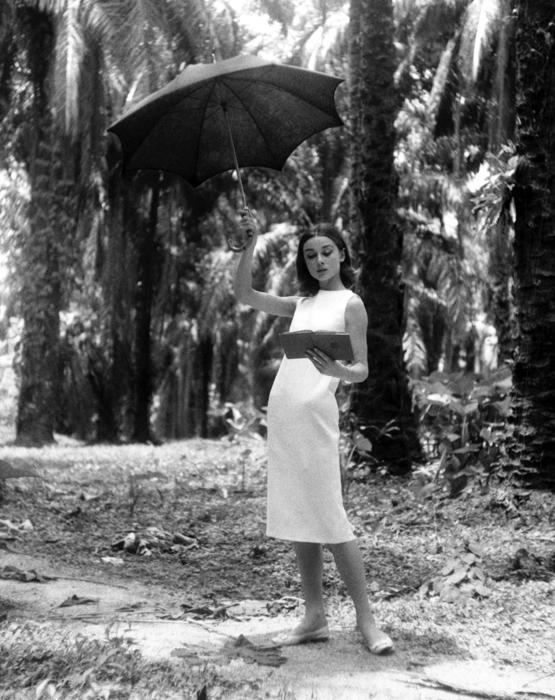 0218-Audrey-Hepburn-The-Nuns-Story-UMBRELLA-PORTRAIT