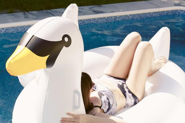 on-swan-float