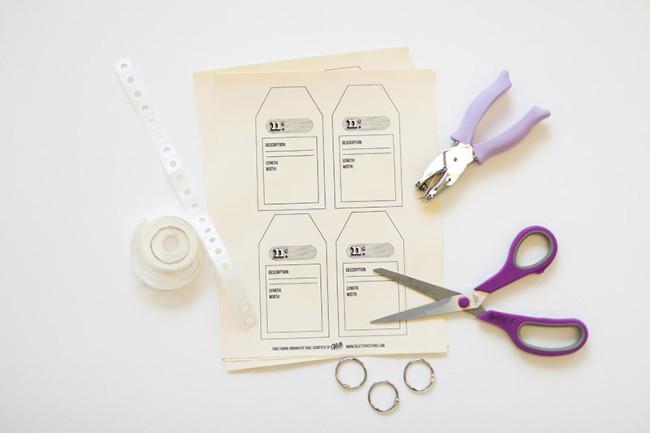 How I organize my fabric stash + free downloadable stash tags